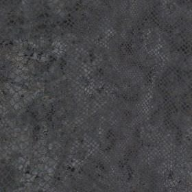 Python - Steel - A patchily coloured reptile skin style pattern covering wool and polyamide blend fabric made in dark charcoal shades