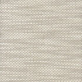 Ricci - Ivory - Light grey and ivory coloured streaks woven into cotton, viscose and polyamide blend fabric