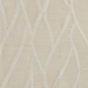 Enzo - Ivory - A subtle pattern of curving lines sweeping over bemberg and cotton blend fabric in two similar shades of creamy beige