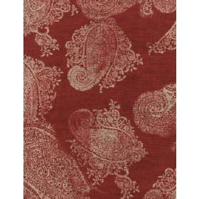 Barnsbury - Red - Red fabric with modern light red coloured pattern