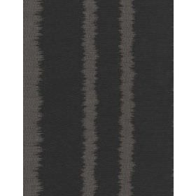 Lowndes - Charcoal - Very dark grey linen fabric with vertical stripes in a slightly lighter shade of grey which have uneven, undefined edge