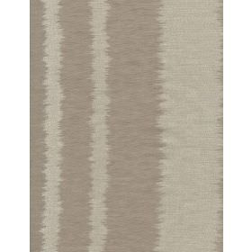 Lowndes - Linen - Grey stripes with uneven, undefined edges on brown-grey linen fabric