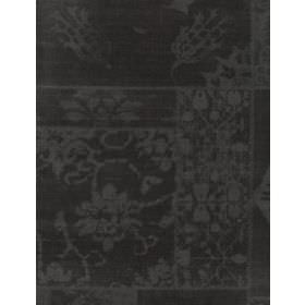 Porchester - Grey - Cotton fabric with a subtle dark grey pattern on an even darker grey, almost black, background