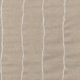 Boboli - Natural - Very thin, uneven white lines running vertically down a warm grey-brown coloured 100% linen fabric background