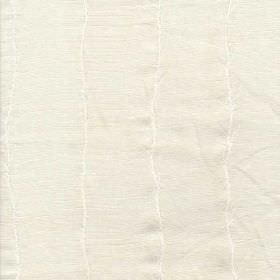 Boboli - White - 100% linen fabric made in white, featuring a very subtle design of thin, uneven, vertical white lines