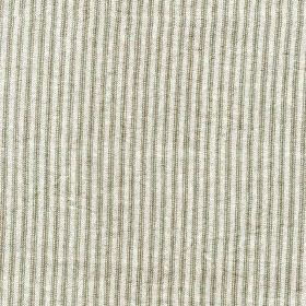 Como - Storm - Thin steel grey and very pale grey-white coloured vertical lines alternating on fabric made entirely from linen
