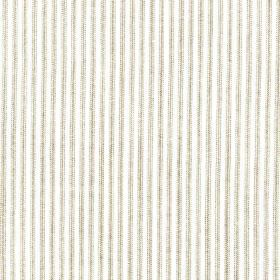 Como - Linen - Fabric made from 100% linen in light grey and white, patterned with a simple design of thin vertical lines