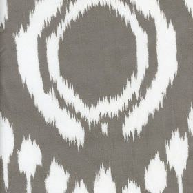 Marquis - Cloud - Large circles and dots with rough, uneven edges patterning 100% cotton fabric in charcoal and bright white colours