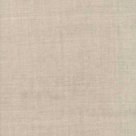 Melzi - Natural - 100% linen fabric made in a plain, light shade of cement grey