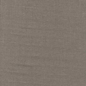 Piccolomini - Dark Natural - Plain, dark graphite grey coloured fabric made from 100% linen