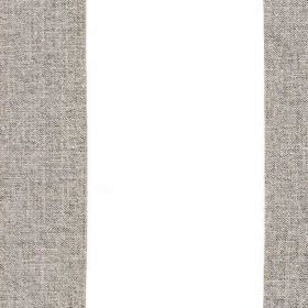 Bellagio - Cloud - Vertically striped 100% linen fabric made with wide bands of bright white and dark gunmetal grey