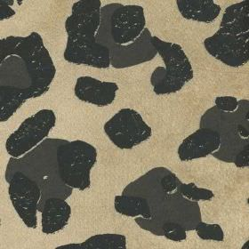Horbury - Black Ivory - Random black and slate grey coloured spots scattered over champagne coloured viscose, polyester and cotton blend fab
