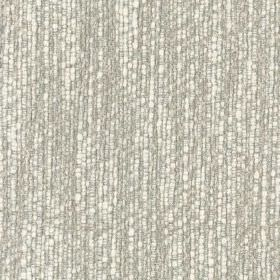 Ladbroke - Natural - Viscose, cotton and polyester blend fabric woven using light grey and bright white coloured threads