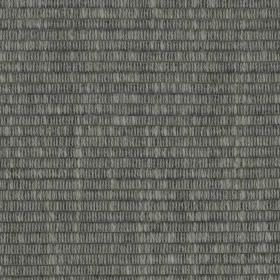 Westbourne - Charcoal - Small light grey dashed lines arranged in horizontal rows on dark grey viscose, cotton, linen and polyester blend fa