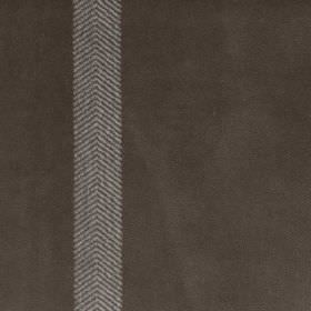 Wigmore Stripe - Taupe - Dark brown-grey coloured 100% cotton fabric featuring a vertical stripe made up of thin steel grey coloured chevron
