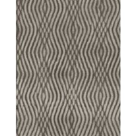 Braque - Taupe - Parallel, overlapping, wavy dark grey lines on a light grey cotton fabric background