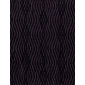 Braque - Aubergine - Dark purple and black patterned cotton fabric with parallel, wavy, overlapping lines