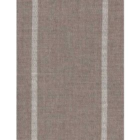 Cape - White - Simple light grey stripes running vertically down light brown coloured diagonally woven linen fabric