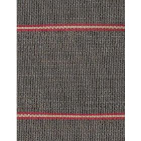 Cheyenne - Charcoal - Dark grey coloured fabric featuring widely spaced, horizontal stripes in dark red and caramel colours