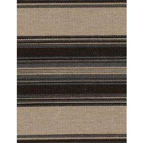 Chinook - Smoke - Different shades of beige, brown and grey making up this linen fabric's horizontal stripe pattern