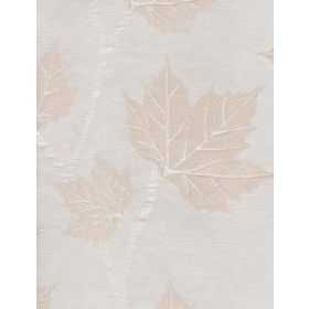 Darwin - Ivory - Subtle cream coloured leaves with almost imperceptible white branches on very pale grey coloured linen fabric