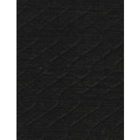 Grasset - Charcoal - Slight ridges forming a very subtle pattern on dark black-blue coloured cotton fabric