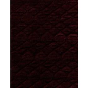 Grasset - Claret - Dark plum coloured cotton fabric, with a pattern formed by slight ridges