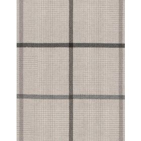 Albert - Cream Grey - Cream coloured hard wearing fabric with large and very small checks in different shades of grey