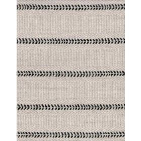 Kato - Ebony - Light grey-cream fabric with horizontal rows of black flecks