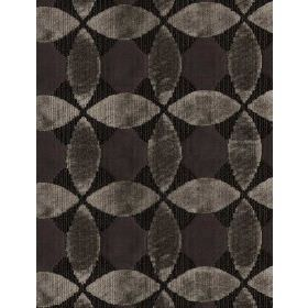 Kepler - Treacle - Cotton fabric with a repeated pattern of geometric shapes in different shades of dark grey