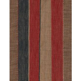 Es Cavallet - 2 - Fabric with bold dark red, charcoal and grey stripes