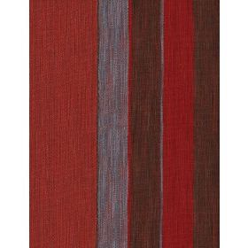 Es Cavallet - 3 - Fabric with bold dark red, blue and charcoal stripes