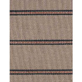 Creel - Ocean - Linen fabric with beige background and darker horizontal dotted stripes