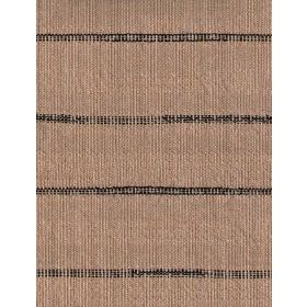 Laundry - Black - Cotton fabric with beige background and dark stripes