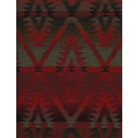 Mendoza - Malbec - Plain fabric in dark red