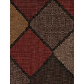 Montero - Brick - Cotton fabric with triangular shapes in multi shades