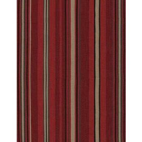Portscatho - Plume - Fabric with dark red, brown, blue and beige stripes