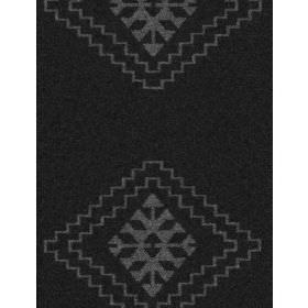 Santiago - Charcoal - Fabric with charcoal background and lighter diamond shapes