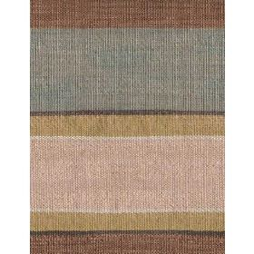 Skiathos - Lime Biscuit - Cotton fabric with bold beige, brown, blue and lime stripes