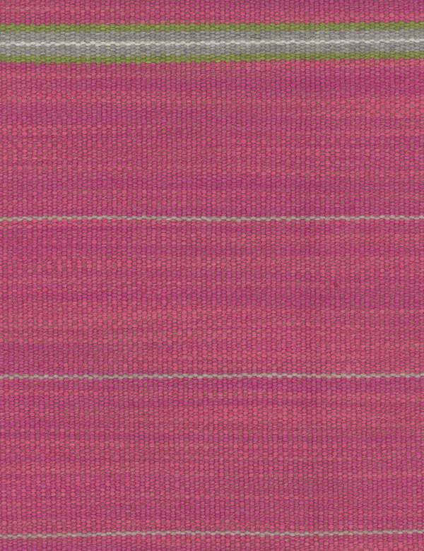 Corumba - Pink - Horizontally striped fabric blended from various materials in bubblegum pink, white, steel grey and grass green