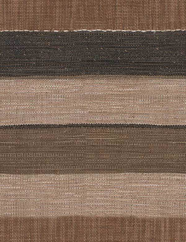 Es Cavallet - 1 - Wide mocha, chocolate brown and black horizontal stripes running across viscose, cotton, linen and polyester fabric