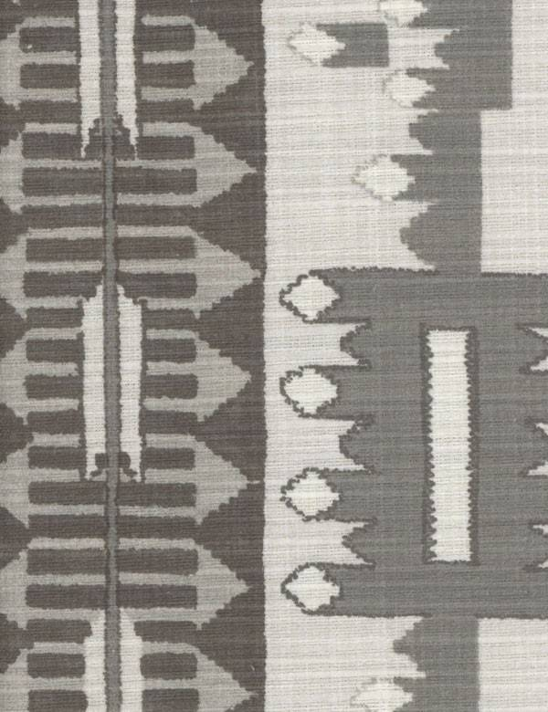 Fazenda - Charcoal - Various light and dark shades of grey making up a simple, elegant geometric style pattern on 100% cotton fabric