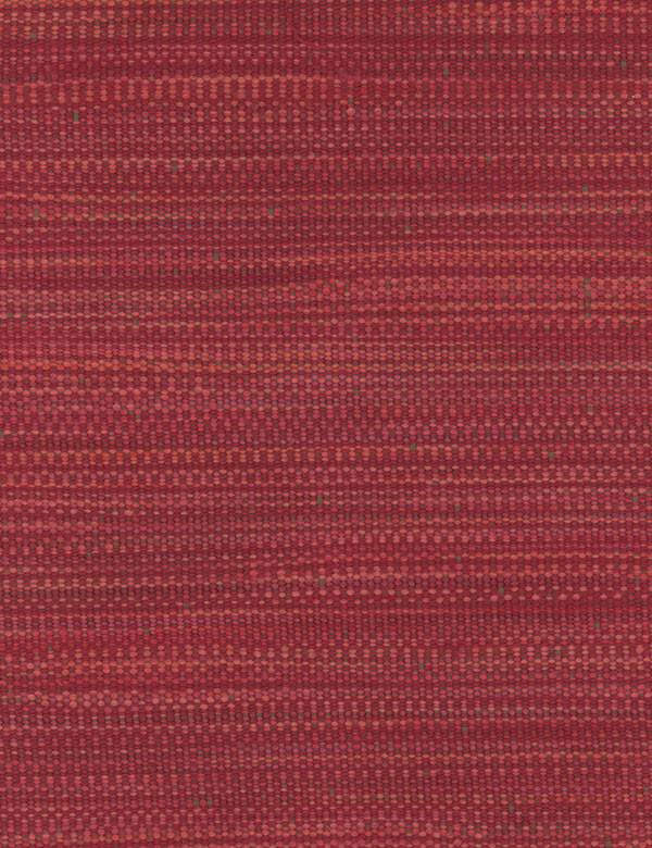 Hanabana - Red - Fabric woven from a blend of cotton, linen, polyester and viscose, using threads in shades of dark pink and salmon pink