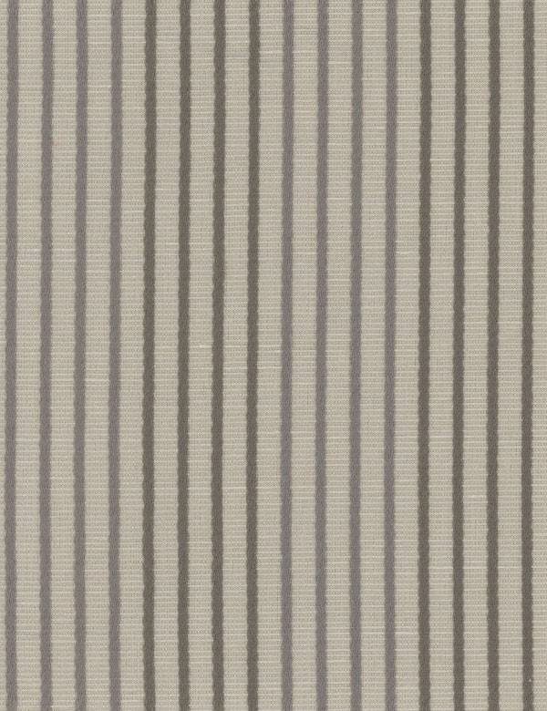 Bombinhas - Smoke - Narrow, even iron grey and battleship grey vertical stripes on light grey linen, viscose, polyester and cotton fabric