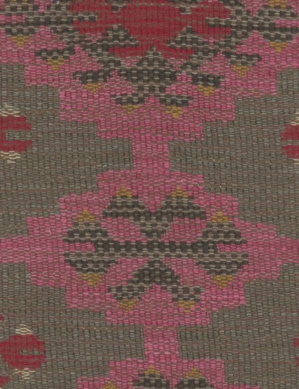 Orillo - Pink - Tribal style patterns woven into cotton, viscose & linen fabric in contemporary grey, light pink, black & maroon colours