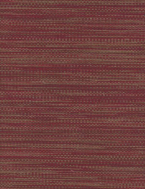 Turquino - Red - Cotton, acrylic, polyester and polyamide blend fabric woven using maroon and dark grey-brown coloured threads