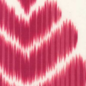 Merchant - Pink - Cotton and polyester blend fabric made in dark pink and bright white, featuring large chevrons with rough, blurred edges