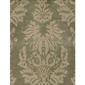 Motocomb Damask - Dove - Cotton fabric with light grey background and lighter feathery pattern