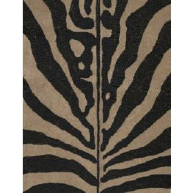 Arazova - Black Ivory - Fabric with grey background and zebra stripes
