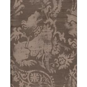 Rainier - Mink - Cotton fabric with brown background and lighter swirling pattern